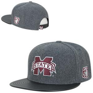 Mississippi State Univ Melton Vinyl Snapback Cap