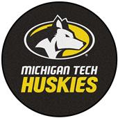 Fan Mats NCAA Michigan Tech Puck Mat