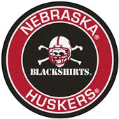 Fan Mats NCAA Nebraska Blackshirts Roundel Mat