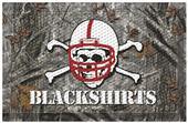 Fan Mats NCAA Nebraska Blackshirt Scraper Camo Mat