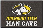 Fan Mats NCAA Michigan Tech Man Cave Starter Mat