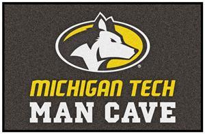 Fan Mats NCAA Michigan Tech Man Cave Starter Mat