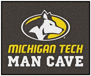 Fan Mats NCAA Michigan Tech Man Cave Tailgater Mat