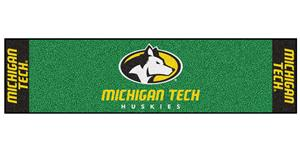 Fan Mats NCAA Michigan Tech Univ Putting Green Mat