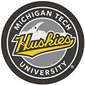 Fan Mats NCAA Michigan Tech University Roundel Mat