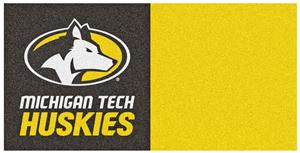 Fan Mats NCAA Michigan Tech Univ Team Carpet Tiles