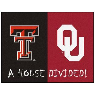Fan Mat NCAA Texas Tech/Oklahoma House Divided Mat