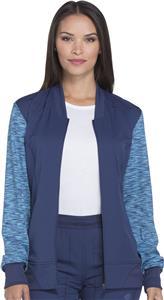 Dickies Women's Dynamix Melange Zip Scrub Jacket