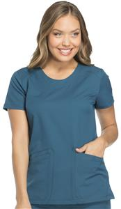 Dickies Women's Dynamix Rounded V-Neck Scrub Top