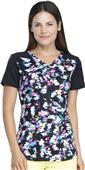 Dickies Women's Dynamix Prints V-Neck Scrub Top