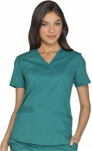 Cherokee Women's Core Stretch Mock Wrap Scrub Top