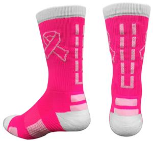 Pearsox Dash Pink Ribbon Crew Socks