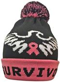 Pearsox Survivor Pink Ribbon Beanie Hat