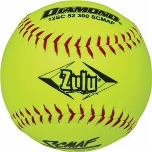 Diamond Zulu Red Stitch SCMAF Softballs