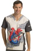 Cherokee Disney Mens V-Neck Tunic Scrub Top