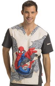 Cherokee Disney Mens V-Neck Tunic Scrub Top