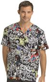 Cherokee Disney Men's V-Neck Scrub Top