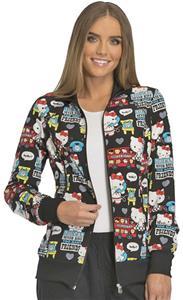 Cherokee Disney Womens Hello Kitty Warm-up Jacket