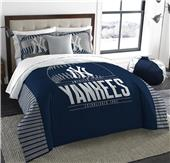 Northwest MLB Yankees King Comforter & Sham Set