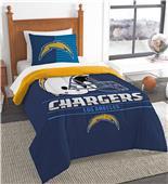 Northwest NFL LA Chargers Twin Comforter/Sham Set