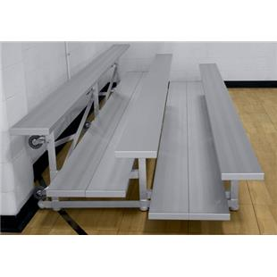 Gared Double Foot Tip N' Roll Aluminum Bleachers