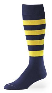 Bumblebee 5 Stripe Nylon Athletic Socks Close-Out