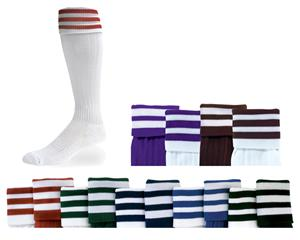 Three-Striped Cushioned Nylon Soccer Socks C/O