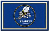 Fan Mats U.S. Navy SEABEES 4x6 Rug