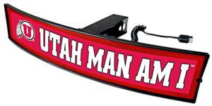 Fan Mats NCAA Utah Man Am I Light Up Hitch Cover