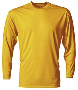 A4 Cooling Performance Gold Long Sleeve Crew