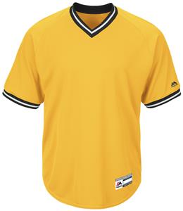 Majestic Cool Base V-Neck Baseball Jersey - C/O