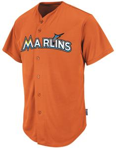MLB Cool Base Marlins Baseball Jersey