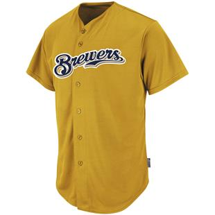 MLB Cool Base Brewers Baseball Jersey
