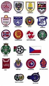 Closeout International Soccer Team Badges Patches