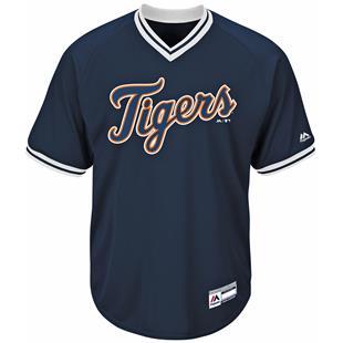 MLB Cool Base Tigers V-Neck Baseball Jersey