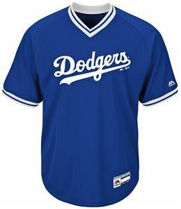 MLB Cool Base Dodgers Youth V-Neck Baseball Jersey