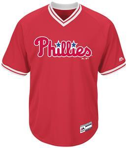 MLB Cool Base Phillies V-Neck Baseball Jersey