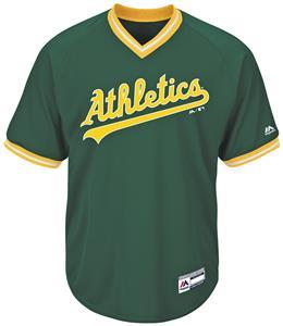 MLB Cool Base Athletics V-Neck Baseball Jersey