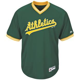 MLB Cool Base Athletics V-Neck Baseball Jersey