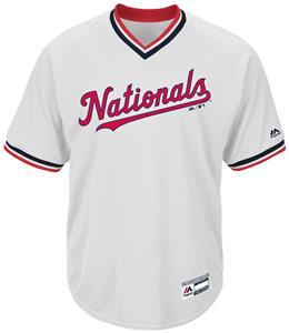 MLB Cool Base Nationals V-Neck Baseball Jersey