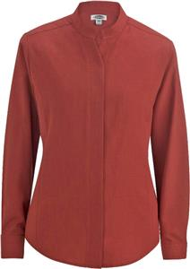 Edwards Womens Batiste Stand-up Colloar Blouse