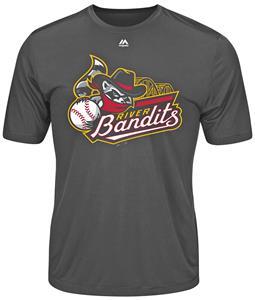 MiLB Evolution Quad City River Bandit Baseball Tee