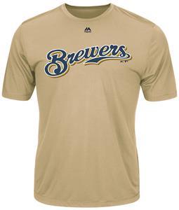 MLB Evolution Brewers Baseball Tee