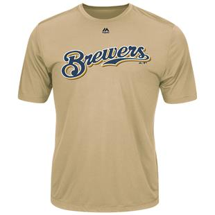 MLB Evolution Brewers Baseball Tee