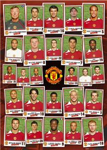 CLOSEOUT - Man UTD Squad Profile Soccer Posters