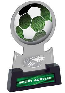 "7"" Sport Smoked TRUacrylic Soccer Trophy"