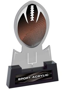 "7"" Sport Smoked TRUacrylic Football Trophy"