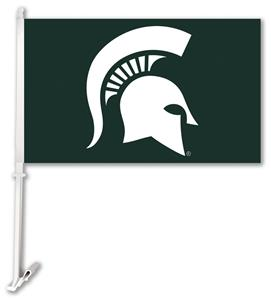 "COLLEGIATE Michigan St. 2-Sided 11"" x 18"" Car Flag"