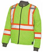 Work King Quilted Safety Jacket