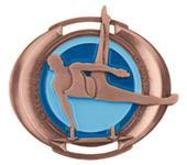 "Hasty Awards 3"" Halo Male Gymnastics Medals"